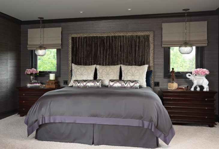 Black Glitter Wallpaper Bedroom 18 Best Gray Bedroom Designs Ideas Design Trends