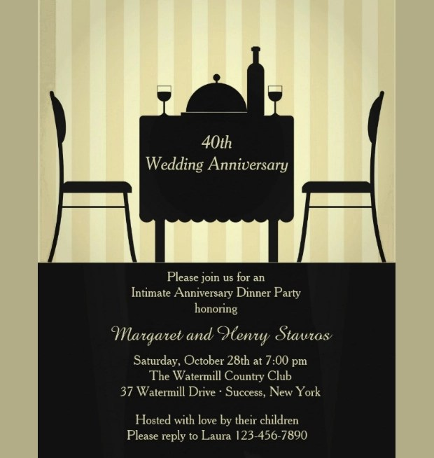 17+ Anniversary Invitation Designs Ideas Design Trends - Premium - anniversary invitation template