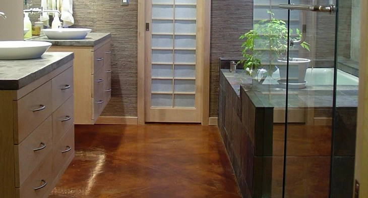 17 Concrete Bathroom Floor Designs Ideas Design Trends