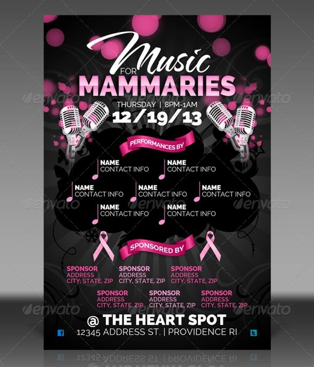 18+ Breast Cancer Awareness Flyer Templates - Printable PSD, AI - Benefit Flyer Template