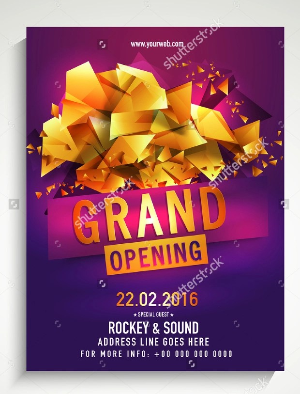 21+ Grand Opening Flyer Templates - Printable PSD, AI, Vector EPS