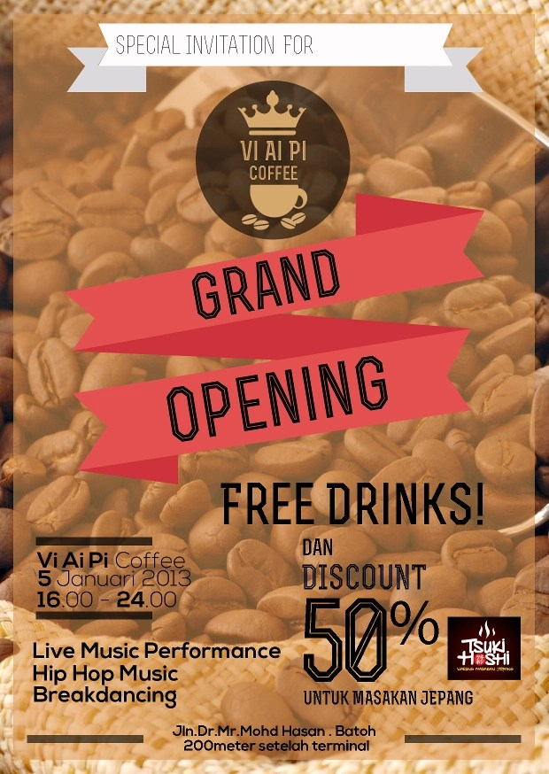 cafe grand opening flyer - Antaexpocoaching