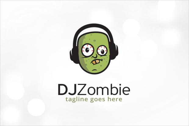 dj logo template psd