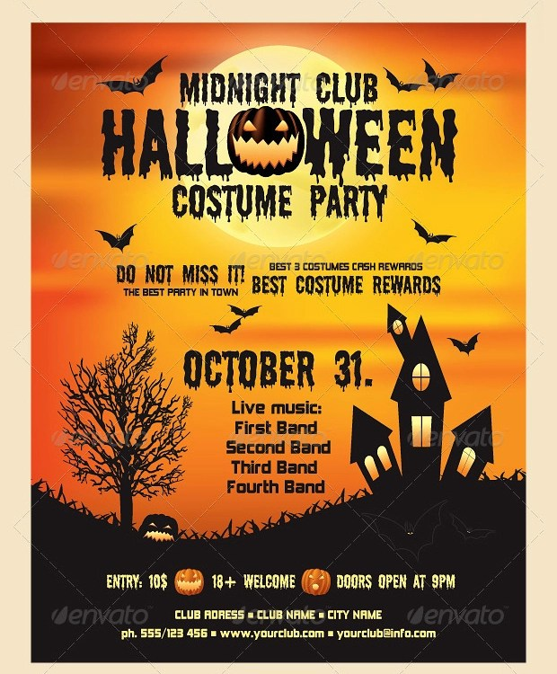 21+ Halloween Flyer Designs and Templates Download Design Trends - halloween flyer template