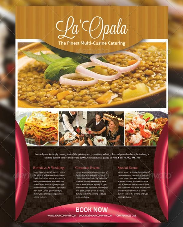 catering flyers