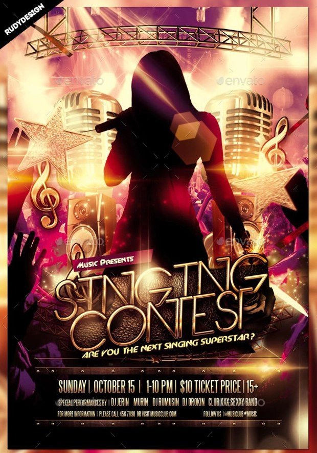 Talent Show Flyer Stand Up Show Psd Flyer Free Stylish Psd Flyers - comedy show flyer template