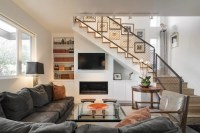 18+ Living Room Stairs Designs, Ideas | Design Trends ...