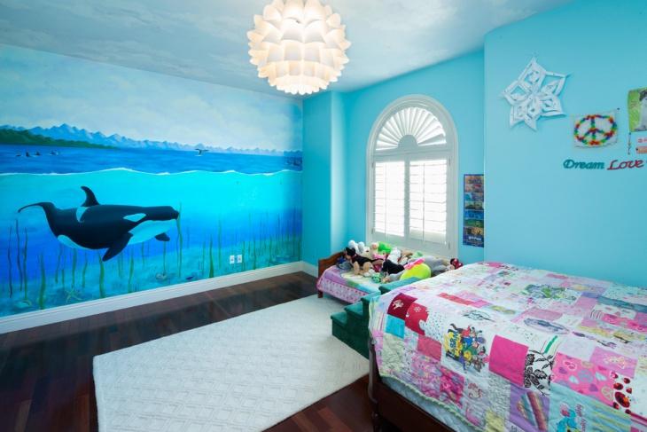 Baby Girl Nursery Wallpaper Uk 18 Kids Bedroom Mural Designs Ideas Design Trends