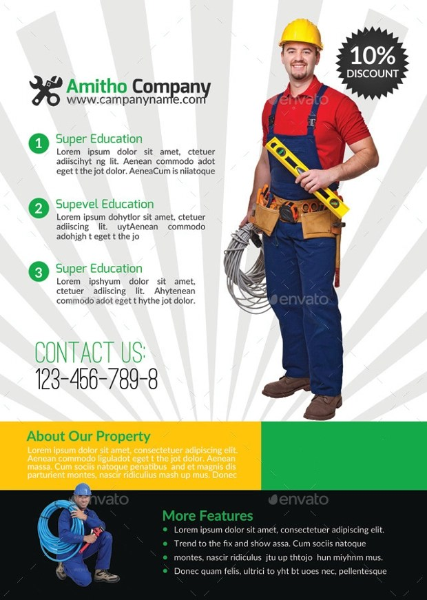 15 Handyman Flyer Designs And Templates Download Design