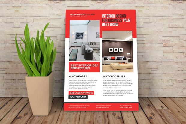 18+ Interior Design Flyer Designs and Templates Download Design - interior design brochure template
