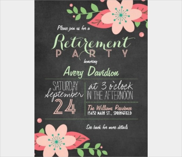 20+ Retirement Party Invitation Templates - Printable PSD, AI - retirement party card