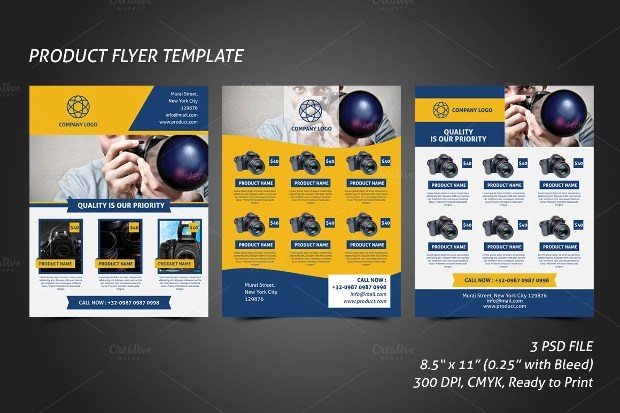 product flyer design template - Boatjeremyeaton