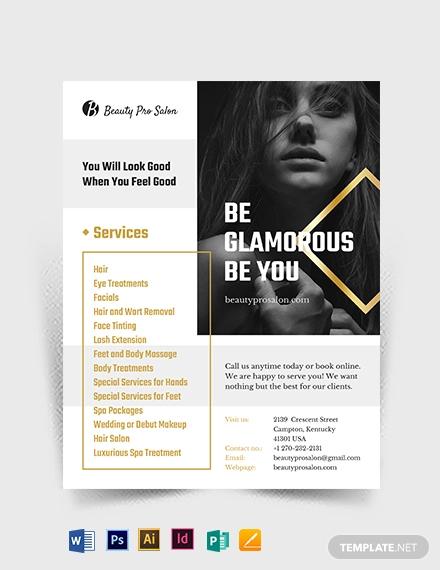 29+ Hair Salon Flyer Templates and Designs - Word, PSD, AI, EPS