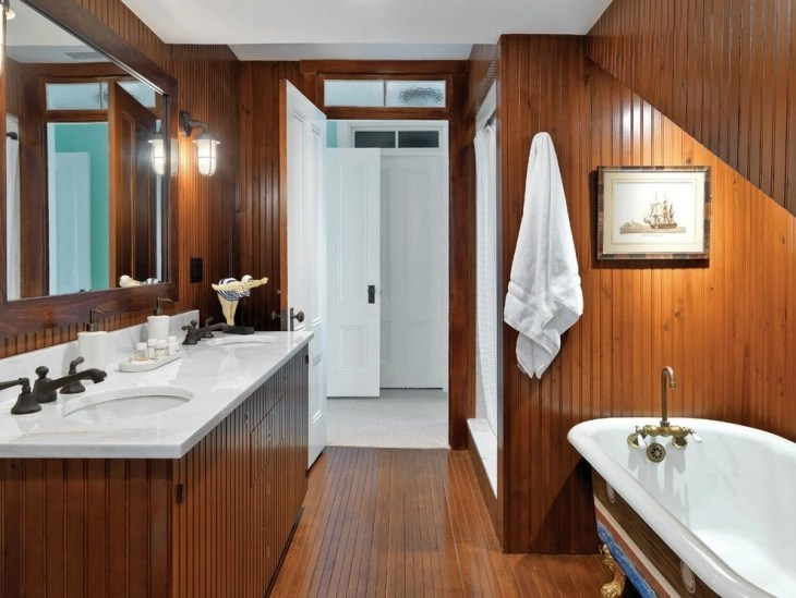 Wood Framed Bathroom Vanity Mirrors 17+ Nautical Bathroom Designs, Ideas | Design Trends