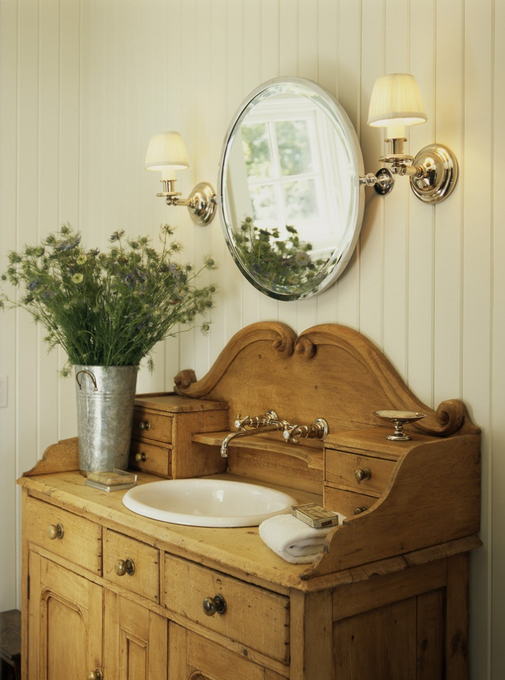 Meuble De Salle De Bain Vintage 17+ Powder Room Vanity Designs, Ideas | Design Trends