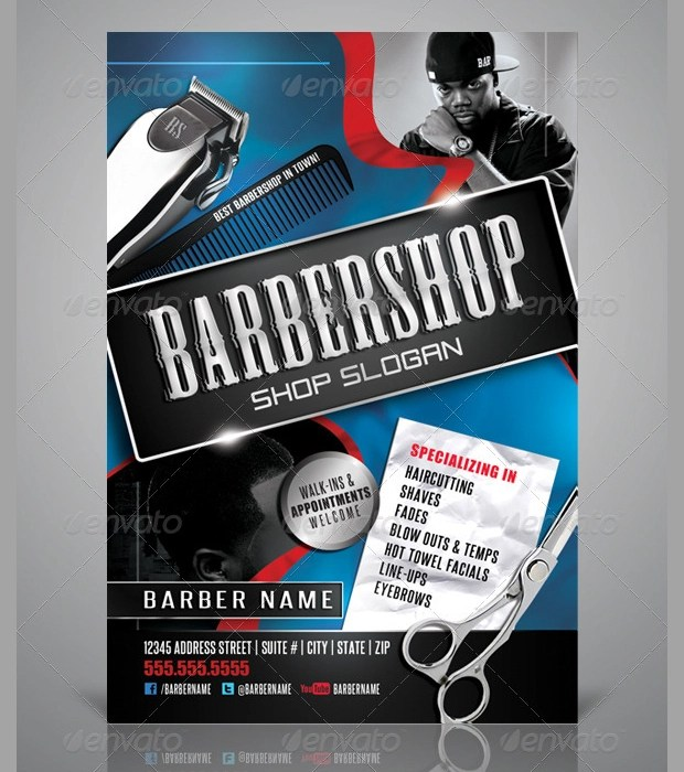 27+ Barbershop Flyer Template - Printable PSD, AI, Vector EPS Format - free flayer design