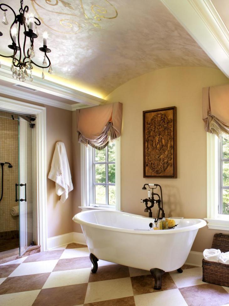 3d Wallpaper Decorating Ideas 18 Vaulted Ceiling Bathroom Designs Ideas Design