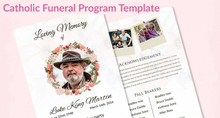 5+ Catholic Funeral Templates \u2013 Free Word, PDF, PSD Documents