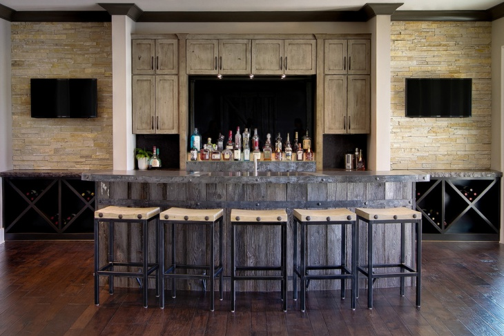 Functional Kitchen Island Designs 17+ Rustic Home Bar Designs, Ideas | Design Trends