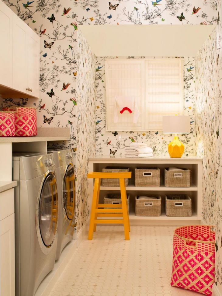 The Yellow Wallpaper Bars Quote 18 Small Laundry Room Designs Ideas Design Trends