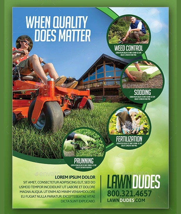 15+ Lawn Care Flyer Templates - Printable PSD, AI, Vector EPS Format - lawn services flyer