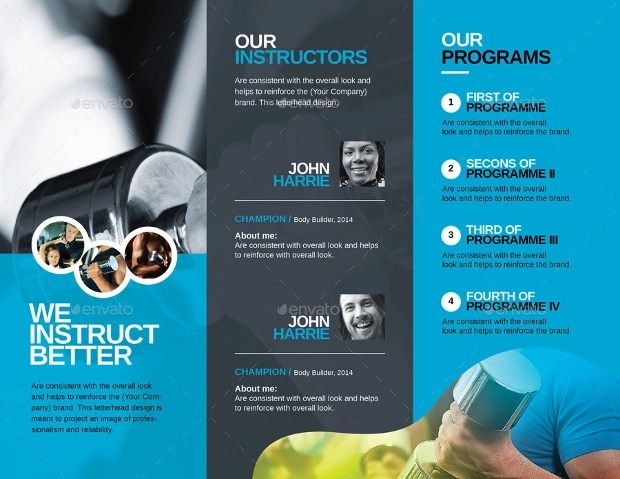 15+ Gym Brochures - Printable PSD, AI, InDesign, Vector EPS Design - Fitness Brochure