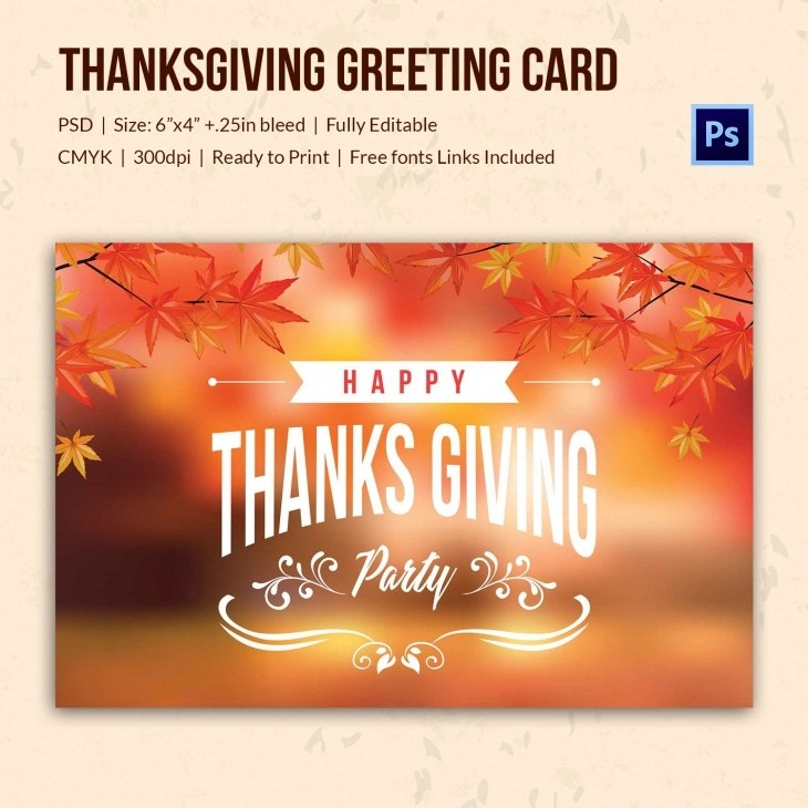 Invitation Card Template Psd 45+ Thanksgiving Designs - Free Printable Psd, Ai