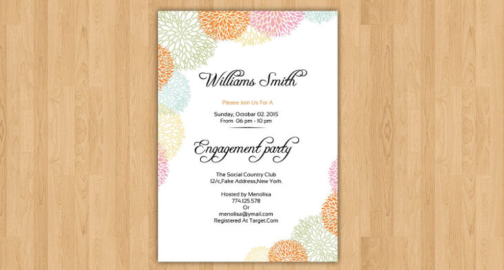 20+ Engagement Party Invitation Designs - PSD, AI Design Trends