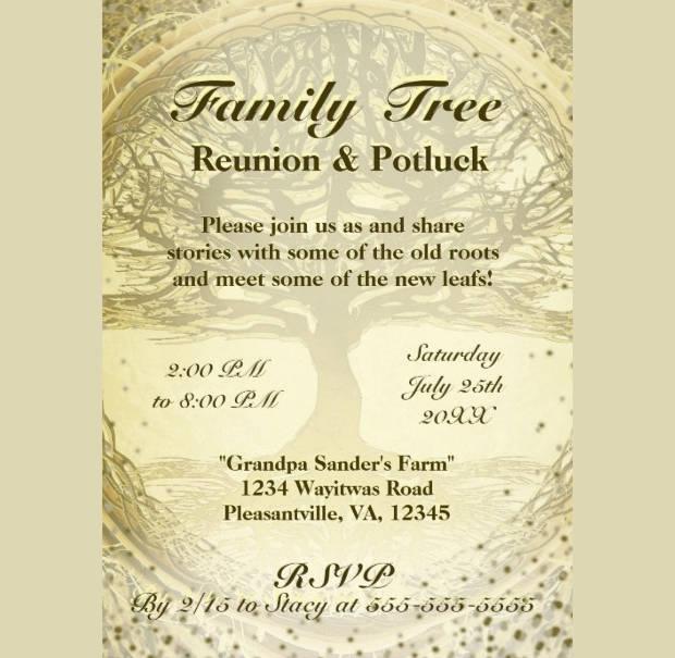 15+ Family Reunion Invitations - Printable PSD, AI, Vector EPS
