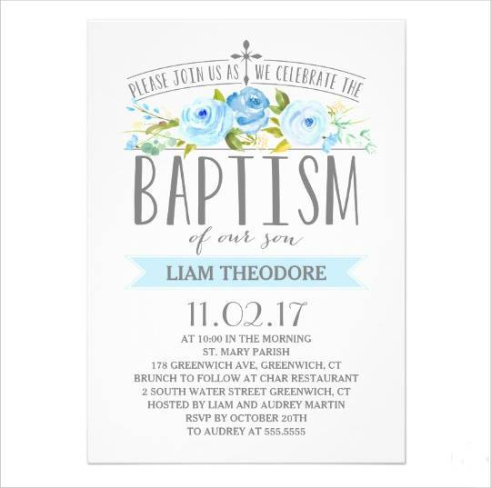 10+ Baptism Invitations - Printable PSD, AI, Vector EPS Design