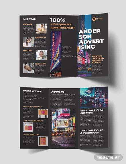 tri fold brochure template word