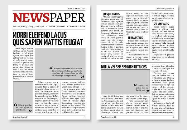 Newspaper Design Templates Design Trends - Premium PSD, Vector - old newspaper template
