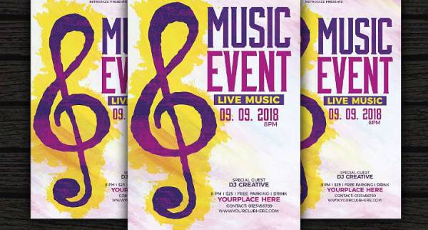19+ Music Event Flyers - Word, PSD, AI, EPS Vector Design Trends