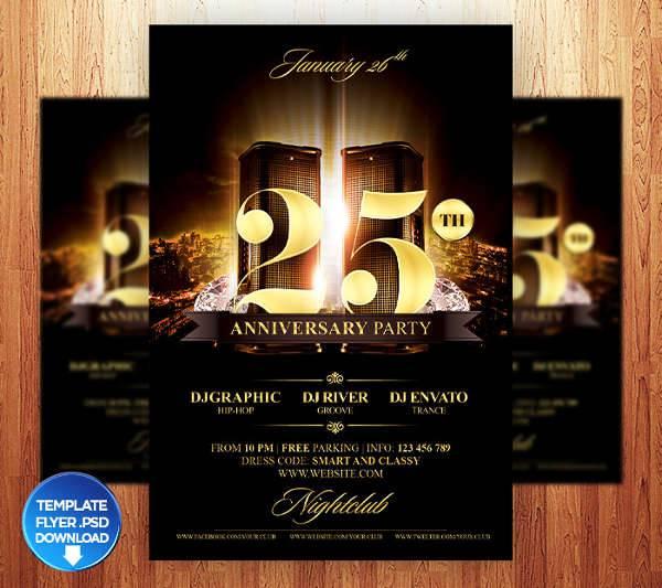 10+ Anniversary Party Flyers Design Trends - Premium PSD, Vector - anniversary flyer