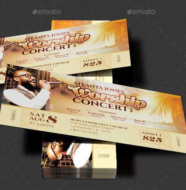 39+ Ticket Design Templates Design Trends - Premium PSD, Vector - concert tickets design
