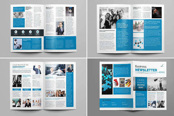 Newsletter Design Template Design Trends - Premium PSD, Vector - business newsletter