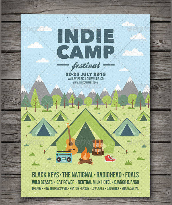 16+ Camp Flyer Designs Design Trends - Premium PSD, Vector Downloads - camp flyer template