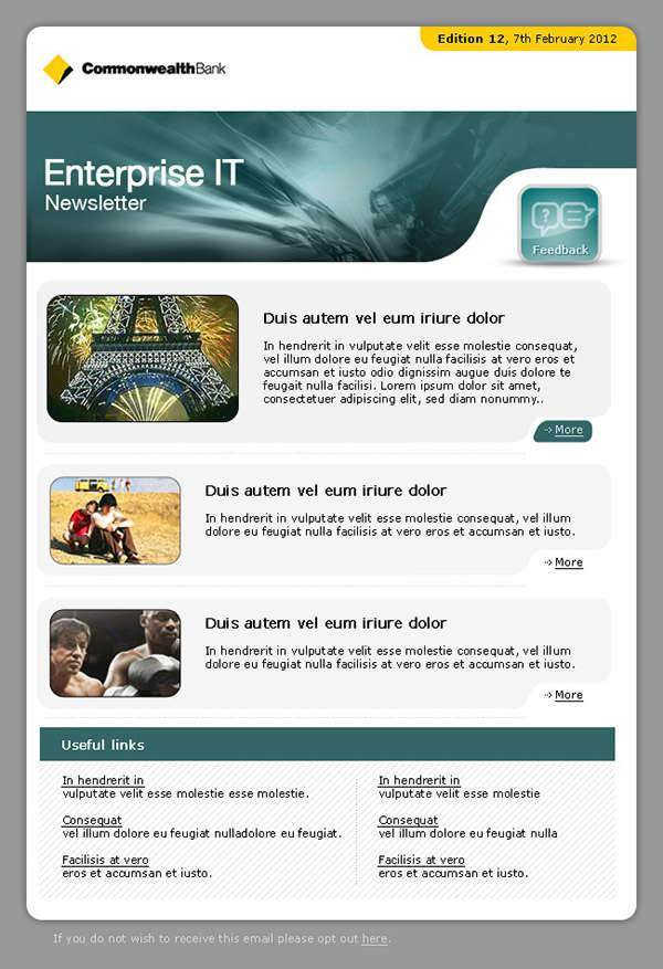 professional newsletter templates