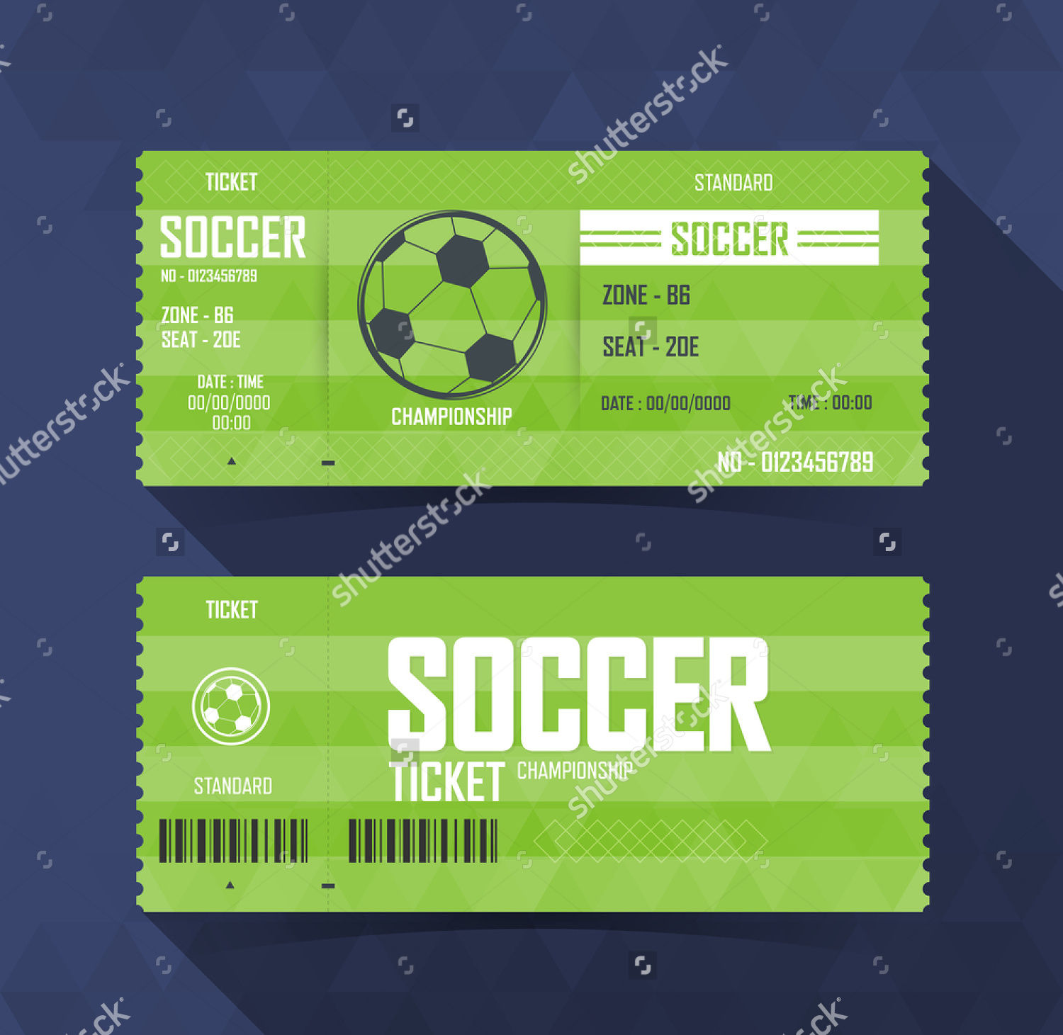 tickets design template