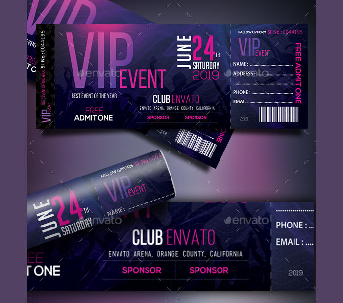 17+ Event Ticket Templates Design Trends - Premium PSD, Vector