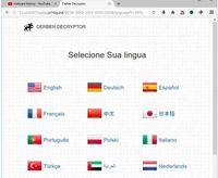 Gambar 1: Permintaan tebusan dalam 12 bahasa.