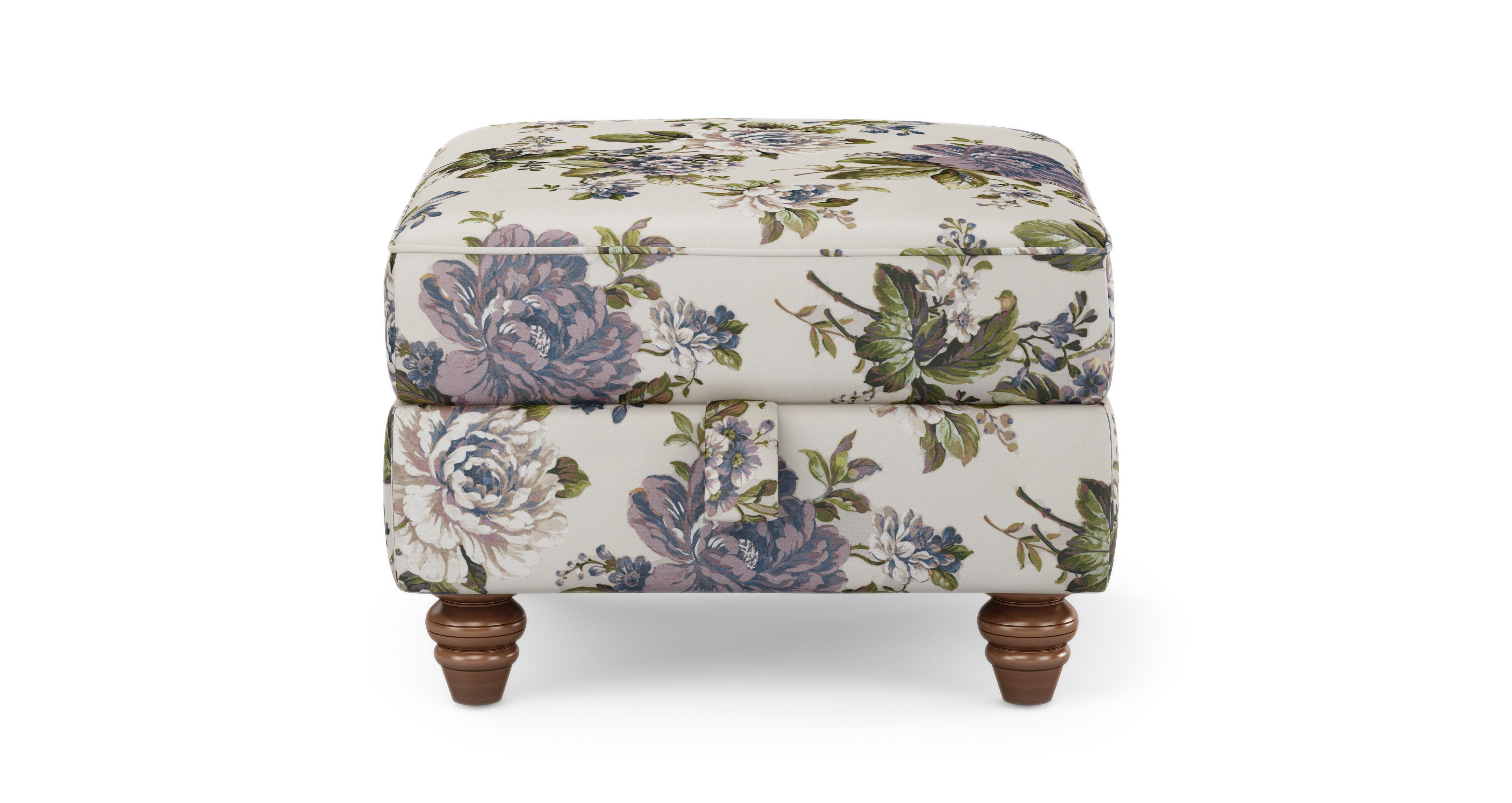 Dfs Sofa Care Ellie Floral Storage Footstool Ellie Floral | Dfs