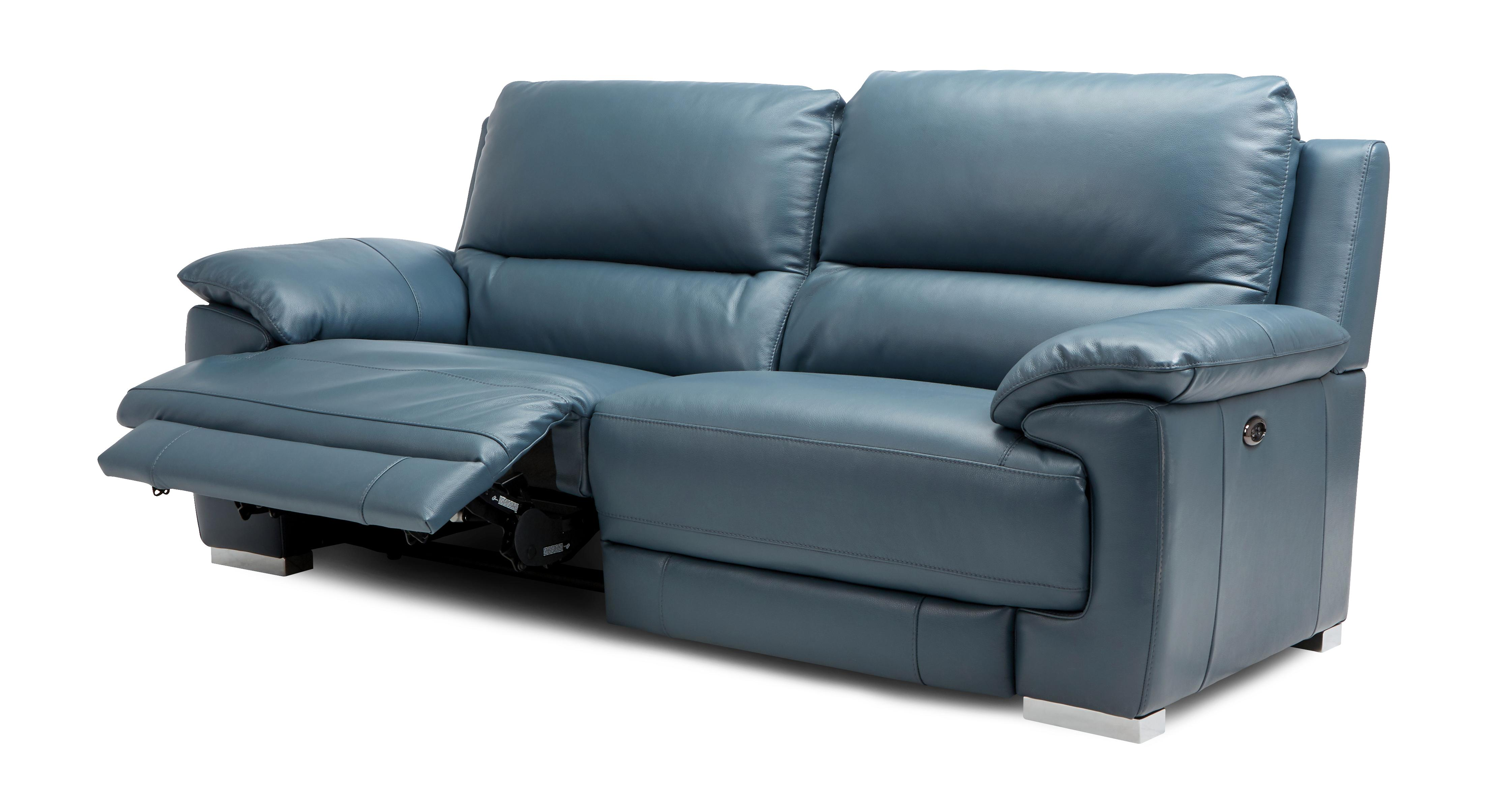 Dfs Leather Sofa Falcon 3 Seater Power Recliner