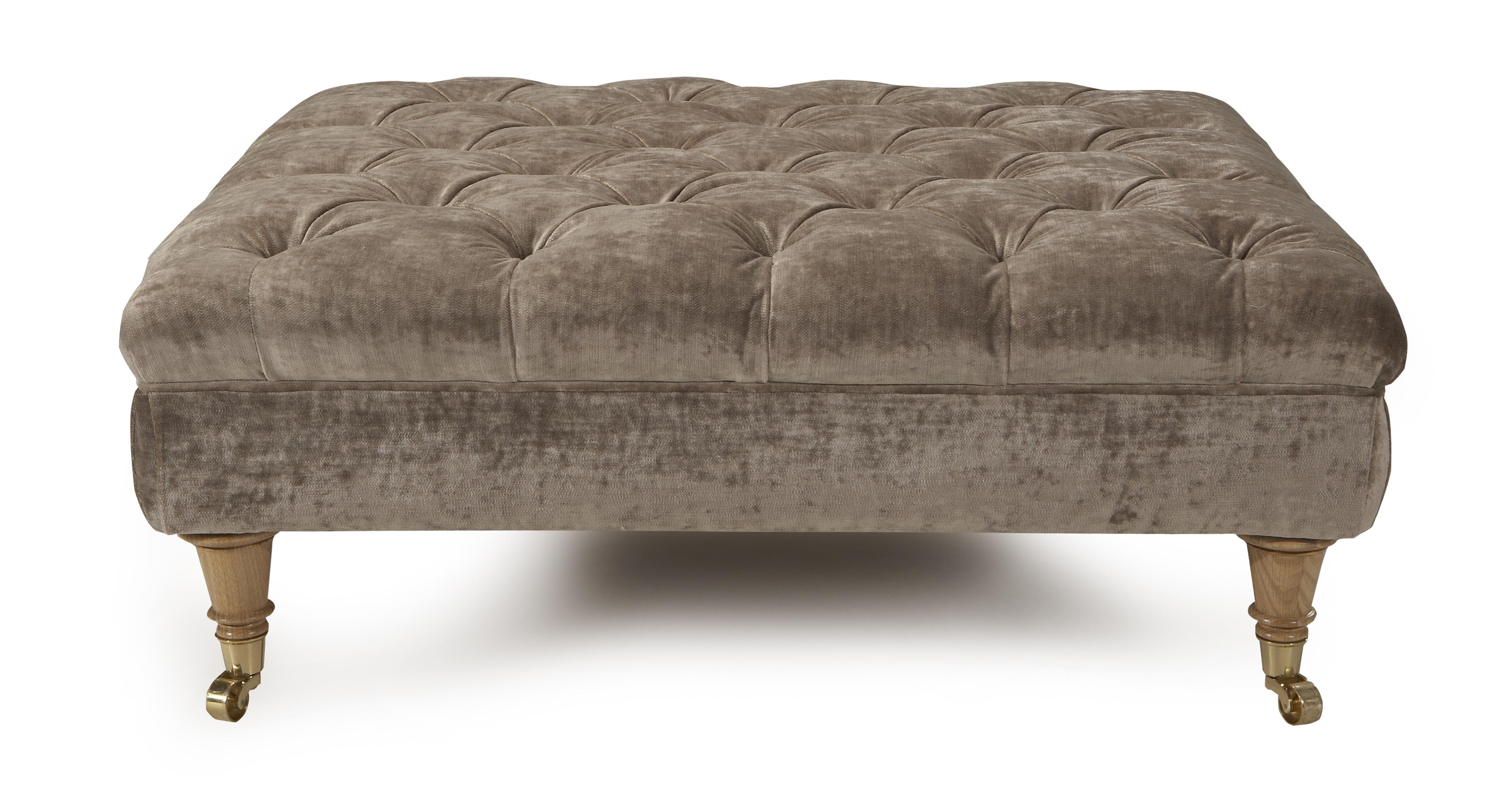 Dfs Sofa Care Loch Leven Large Button Footstool | Dfs