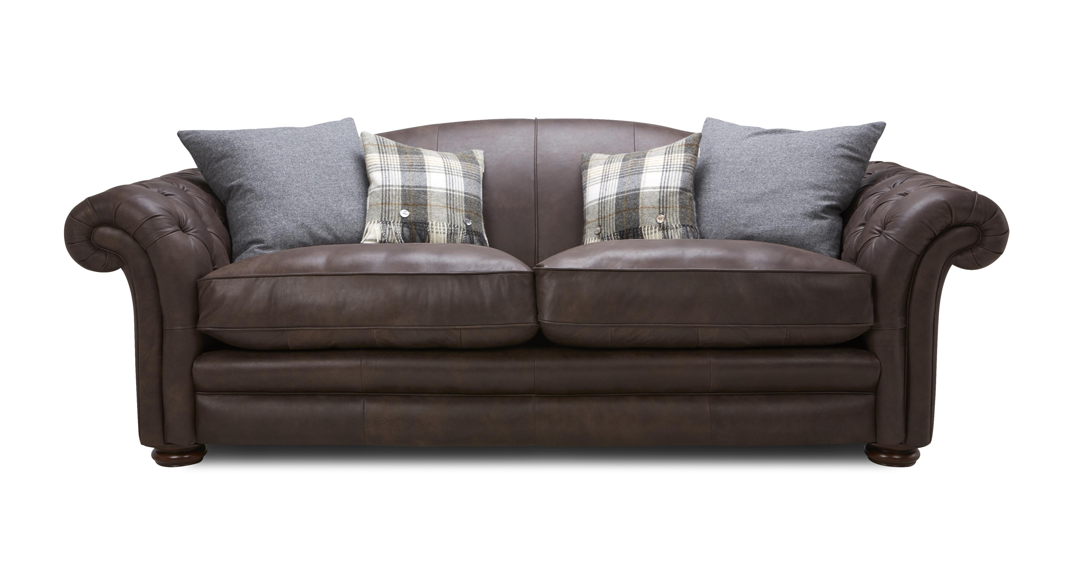 Dfs Sofa Care Loch Leven Leather 4 Seater Sofa | Dfs
