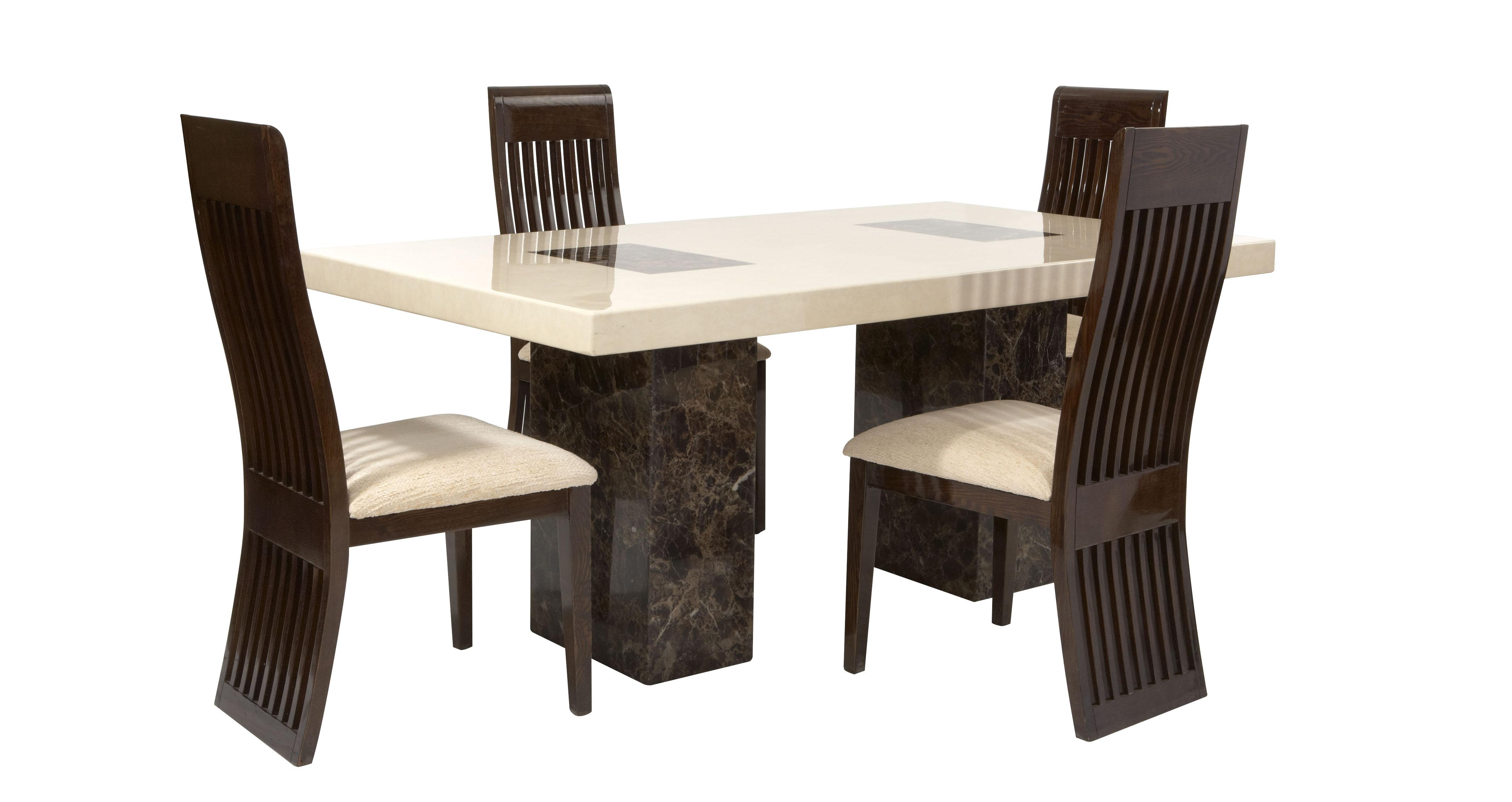Dfs Sofa Care Strasbourg Rectangular Fixed Table And 4 Lima Chairs