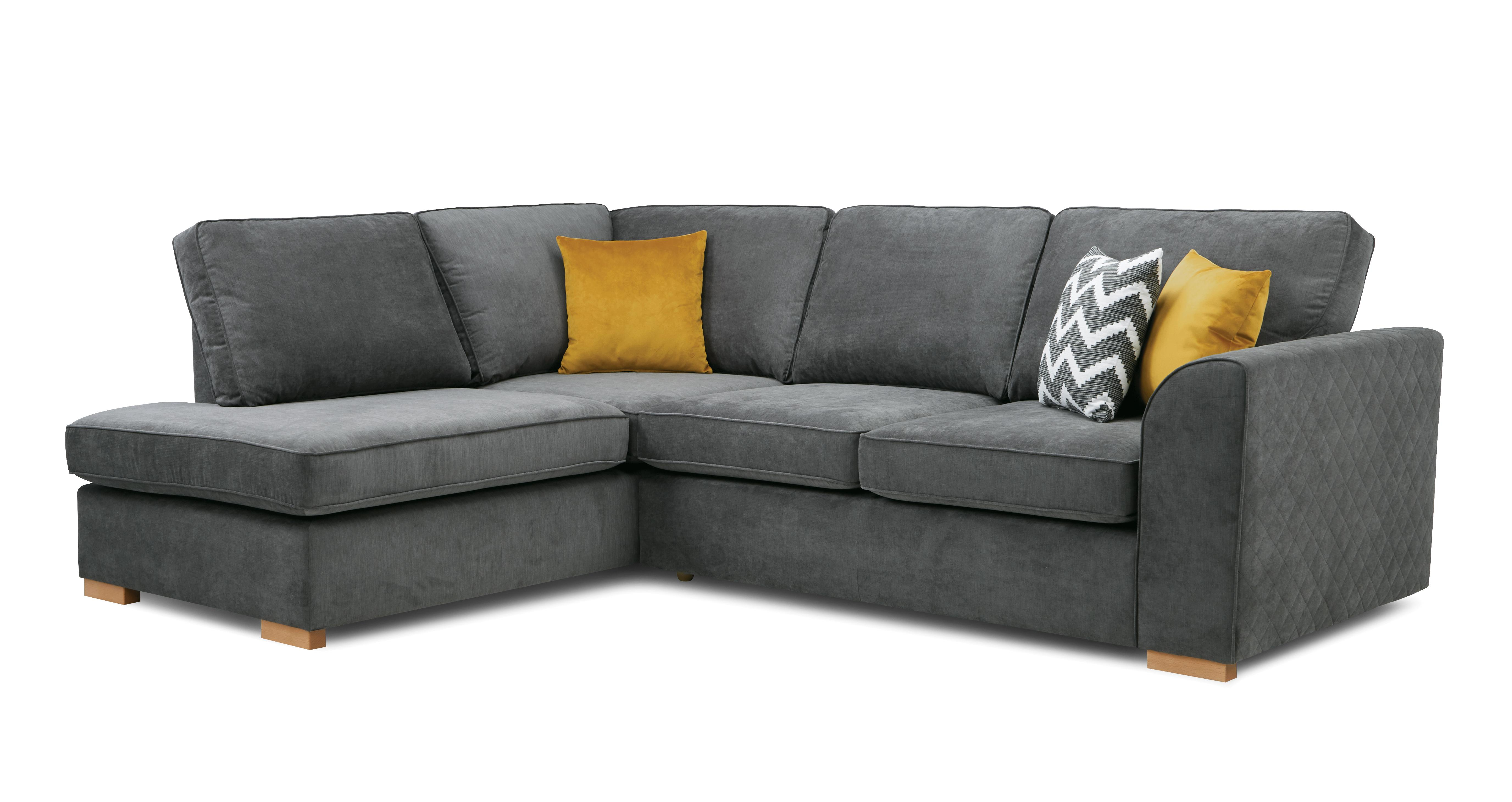 Zavier Right Hand Facing Arm Open End Corner Sofa Plaza Dfs