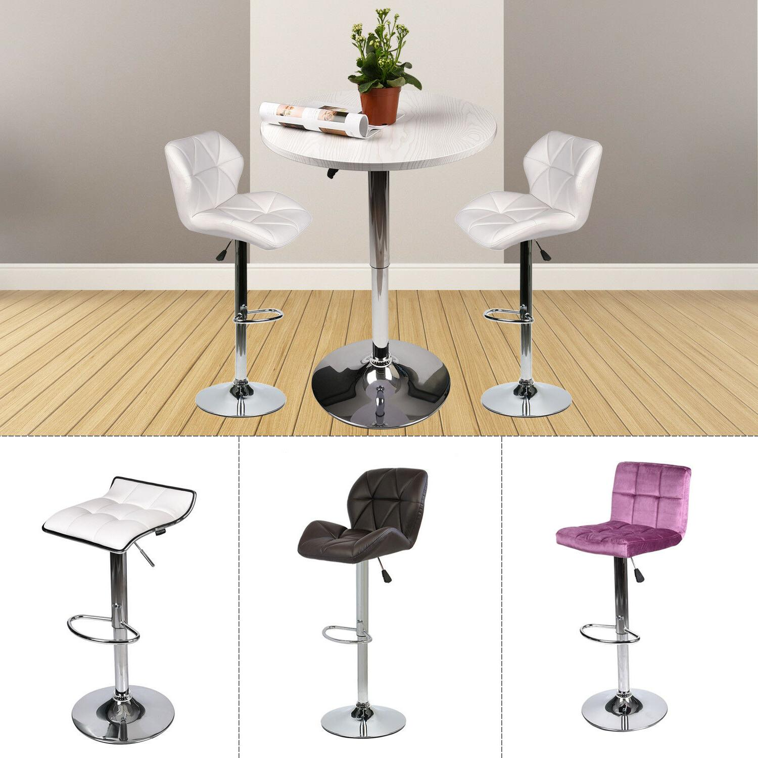 Table And Bar Stools 3 Piece Pub Table Set Bar Stools Adjustable Dining
