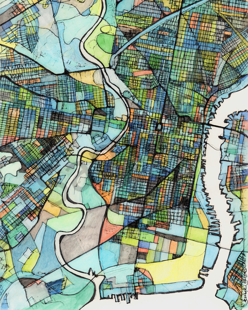 Buy Art Prints Online City Map For Sale Online Abstract Art Print Of Philadelphia Pa Abstract Office Art Philly Neighborhood Map Of Philadelphia Pa Abstract Map