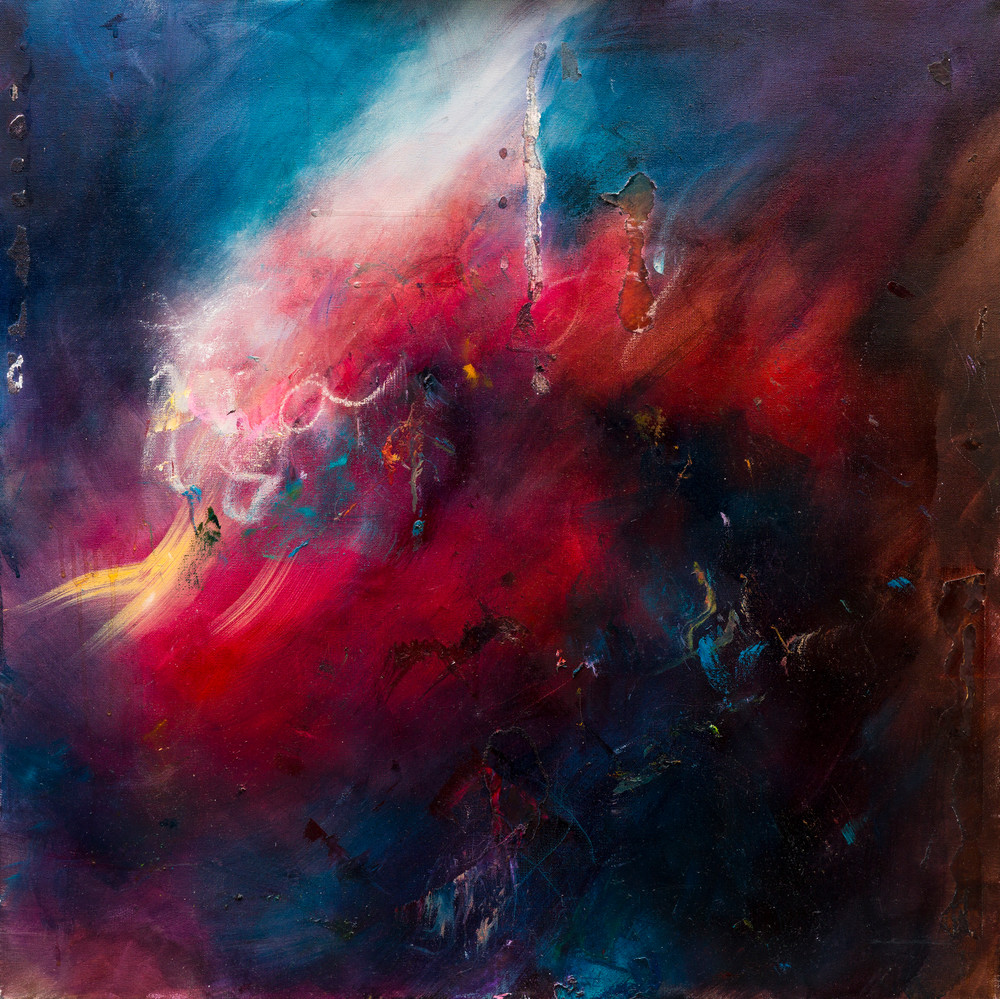 Contemporary Abstract Painting The Uproar Contemporary Abstract Ocean Painting Samantha Kaplan